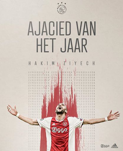 Ajax Amsterdam Names Moroccan Hakim Ziyech Best Player Of